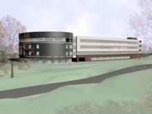 An artist's rendering of the planned N.C. National Guard headquarters