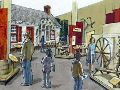 An artist's rendering of what the North Carolina exhibit at the NC Museum of History would look like.