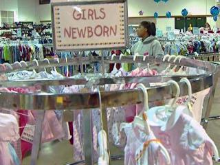 The Triangle Mothers of Twins and Triplets holds a sale twice a year of gently used items to help members and the general public save money on items they will generally only use a few months.