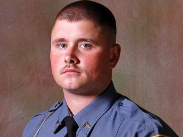 Cpl. Justin Garner, 25, of the Carthage Police Department, shot and wounded Robert Stewart, 45, who is suspected of slaying seven residents and a nurse in the Pinelake Health and Rehab Center in Moore County on Sunday, March 29, 2009. (Photo courtesy of the Carthage Police Department)