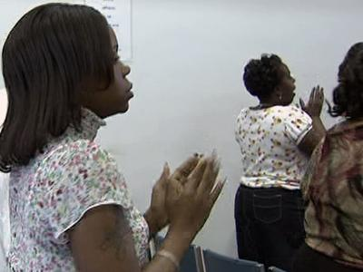 People at several Moore County churches prayed Sunday, April 5, 2009, for peace after police say a gunman fatally shot eight people one week ago at a Carthage nursing home.