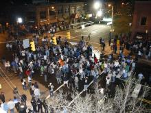 After the University of North Carolina won its fifth men's basketball national championship, an estimated 30,000 fans rushed Franklin Street.