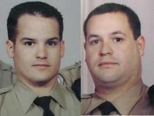 Lenoir County Deputy Allen Pearson, left, died after being shot in the line of duty. Deputy Ryan Dawson was injured.