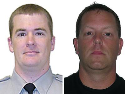 Wake County sheriff's deputies Scott Earp, left, and Jeffrey Minschew