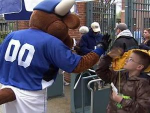 People attend the Durham Bulls game on April 10, 2009.