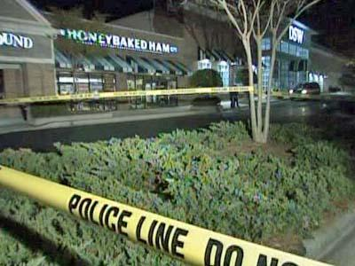 Officers were on the scene of an attempted armed robbery outside of the Honey Baked Ham Company, 423 Crossroads Blvd. in Cary, on April 11, 2009.