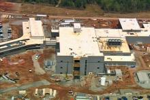 The Novartis flu vaccine plant under construction in Holly Springs was the largest bio-manufacturing project under way in the United States in April 2009.