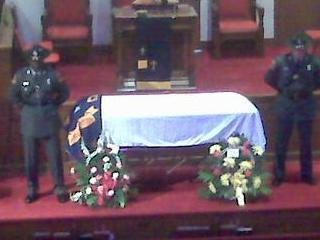 Sen. Malone's funeral