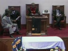 Web only: Funeral for state Sen. Vernon Malone