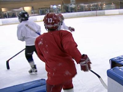 Young hockey players hit the ice at the Cary Ice House.