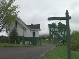 The St. Mary's Episcopal Church in Ashe County.