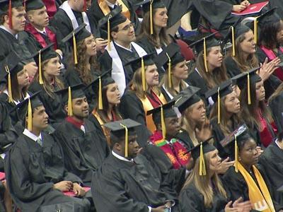 North Carolina State University held its commencement ceremony at the RBC Center on Saturday, May 9, 2009.