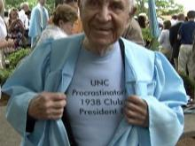 Rougemont man awarded UNC degree 75 years after enrolling