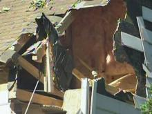Knightdale home damaged by strong winds