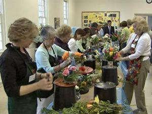 More than 60 volunteers show up at the Raleigh Moravian Church every Tuesday to make around 300 floral arrangements, which are donated to hospitals, nursing homes and other groups. The effort is called The Flower Shuttle.