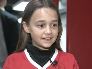 Katherine Fritsch has been singing the national anthem before Hurricanes games for three years.