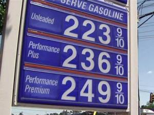 The current average price for a gallon of regular unleaded gasoline in the Triangle is up nearly 20 cents from a month ago, according to AAA.