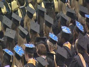 Hundreds of students attend Wake Tech's graduation ceremony at the Raleigh Convention Center on Sunday, May 17, 2009.