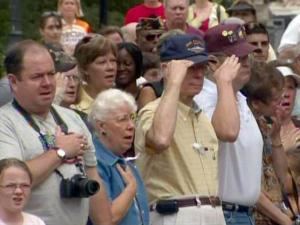 Hundreds of people attended a Memorial Day observance at the North Carolina State Capitol on May 25, 2009.
