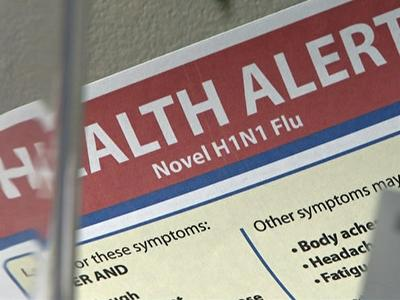 The Wake County Health Department has been distributing H1N1 virus handouts to alert people of symptoms.