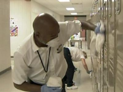 Reedy Creek Middle School was thoroughly sanitized Wednesday evening.
