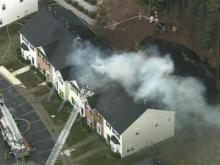 Fire displaces residents from six Apex townhomes