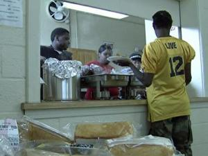 The Abney Chapel program provides hot meals to the homeless on the weekend.