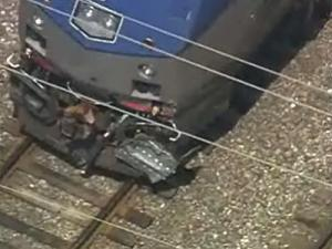 An Amtrak train traveling from Charlotte to New York reportedly struck a car on a train track in Raleigh Tuesday morning.
