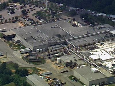 The roof of a Garner food plant collapsed Tuesday morning. The 425,454-square-foot ConAgra Foods plant is at 4851 Jones Sausage Road.