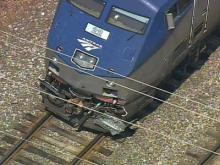 Web only: Sky 5 video of Raleigh train wreck