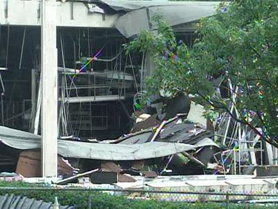 The ConAgra Foods plant in Garner after an explosion on June 9, 2009.