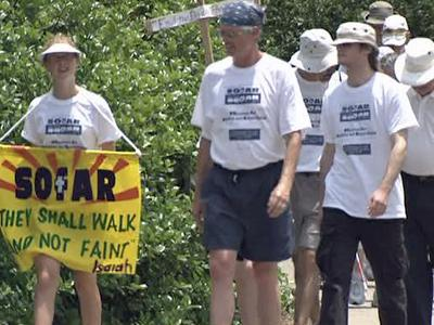 The Sojourners for Abolition and Reconciliation started their annual march Sunday, June 14, 2009, from Raleigh Central Prison to protest the death penalty.