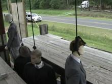 Gallows display sparks outrage