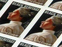 Web only: Unveiling of St. Aug's alum U.S. postal stamp