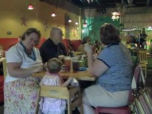 Customers enjoy a meal at the The Rib Hut in Wilson.