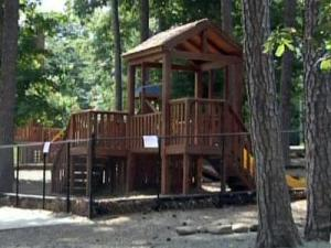 A 4-year-old girl was bitten by a fox on June 23, 2009, while she played in this playground on Old Chapel Hill Road. The fox was found to have rabies.