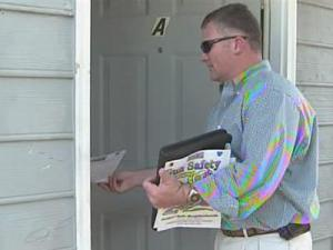 Durham police went door-to-door Wednesday with citizens of Project Safe Neighborhood to send a clear message after recent shootings.