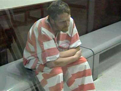 Michael Thomas Clark Jr. appears before a Wake County magistrate on June 26, 2009.