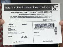Wake motorists will have to wait for licenses