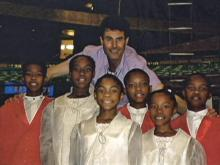 The Cade family sang for Michael Jackson in 2001.
