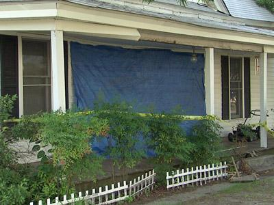 A Wendell home was damaged earlier this month after a man rammed his truck into the front of hit, police said.