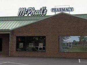 McPhails Pharmacy, 815 W. Front St. in Lillington, was robbed by two men on July 8, 2009.