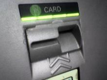 A skimmer is a device attached to an ATM to read card data.