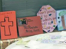 Flowers, cards bring comfort to victims
