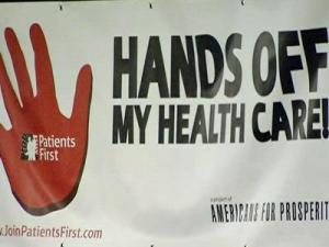 Americans for Prosperity's Patients First members came together Tuesday evening at the RBC Center to rally against government-centered health care reform.
