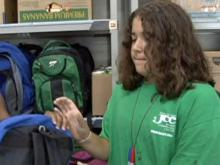 Backpack Buddies collect donations for children in need
