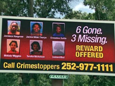 The images of five missing and murdered Rocky Mount women now flash on billboards in Rocky Mount.