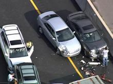 Multi-car pileups snarl I-40 traffic