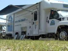 The SNAP-NC portable pet clinic was parked in Smithfield on July 31, 2009.