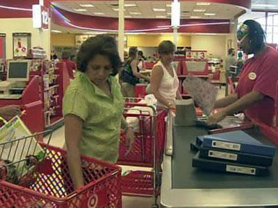 Shoppers at the Target in Cary Crossroads Plaza took advantage of the sales-tax free weekend on Aug. 7, 2009.